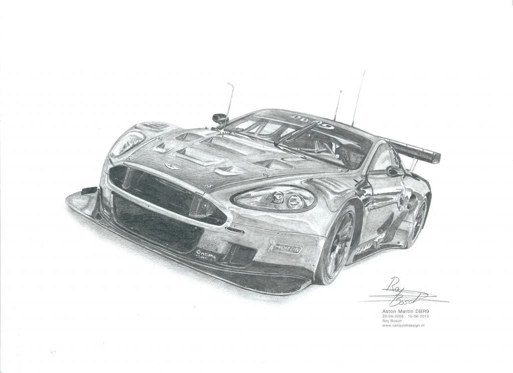 Aston Martin DBR9 schaduw fixed klein